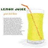 Lemon juice Royalty Free Stock Image