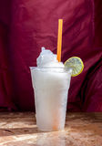 Lemon juice frappe tastes fruit sweet and sour in glass Royalty Free Stock Photos