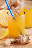 Lemon juice and ginger Royalty Free Stock Photos