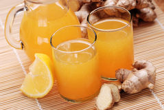 Lemon juice and ginger Stock Photo