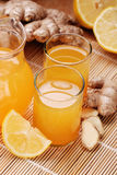 Lemon juice and ginger Royalty Free Stock Photography