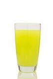 Lemon  juice  glass.  Isolated on white background Royalty Free Stock Photo