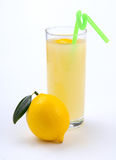 Lemon juice in a glass and an lemo Stock Images