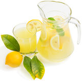 Lemon juice with lemon fruit Royalty Free Stock Images
