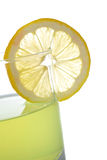 Lemon juice with a slice Royalty Free Stock Photo