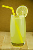 Lemon juice and slice, fresh lemon Royalty Free Stock Photography
