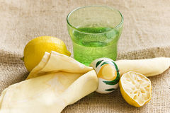 Lemon juice soda Royalty Free Stock Image