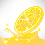 Lemon juice splash Stock Photo