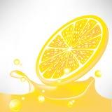Lemon juice splash vector illustration