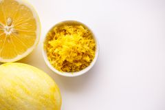 Lemon and juice on a white background.  Royalty Free Stock Photography
