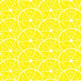 ABSTRACT LEMON SLICE SEAMLESS VECTOR PATTERN. FRESH SUMMER FEELING PATTERN. LEMON. JUICY AND FRESH. SEAMLESS VECTOR PATTERN. SUMMER FEELING. FUNNY FUIT TEXTURE Royalty Free Stock Photos