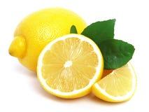 Lemon. Juicy lemon on a white background Royalty Free Stock Photo