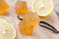 Lemon jujube, marmalade, candied fruite jelly on a Royalty Free Stock Photography