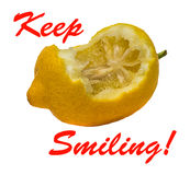 Lemon - Keep Smiling Royalty Free Stock Photography