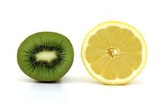 Lemon and kiwi Royalty Free Stock Photography