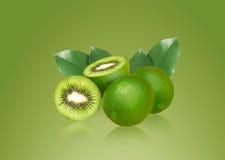 Lemon and kiwi. Inside, ideal for mix fruit juice Stock Image