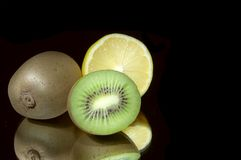 Lemon and kiwi. Royalty Free Stock Images