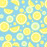 Lemon and kiwi Royalty Free Stock Images
