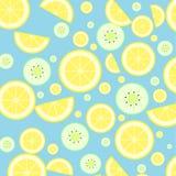 Lemon and kiwi Royalty Free Stock Images