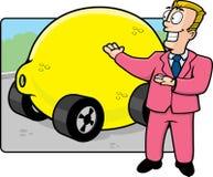 Lemon Law. A used car salesman selling a lemon Royalty Free Stock Photos