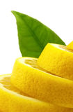 Lemon with leaf Stock Images