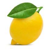 Lemon. With leaf isolated on white Stock Photo