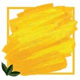 Lemon leaves color frame Royalty Free Stock Images