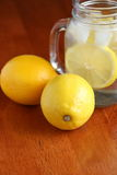 Lemon and Lemon Water Royalty Free Stock Photos