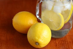 Lemon and Lemon Water Stock Photography