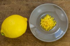 Lemon and lemon zest Stock Photo