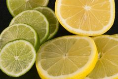 Lemon Lime. Picture of lemon and lime slices Royalty Free Stock Photo