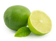 Lemon; lime. On a white background royalty free stock photos