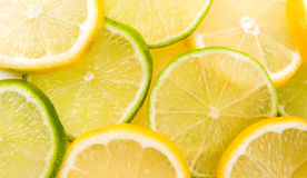 Lemon and lime. Slices abstract background Royalty Free Stock Photography