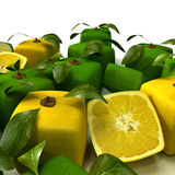 Lemon and lime background close-up Royalty Free Stock Photos