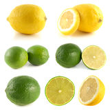 Lemon, lime collection  on white Royalty Free Stock Image