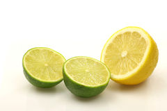 Lemon and lime fruit Stock Photography