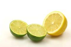 Lemon and lime fruit Stock Photography