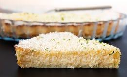 Lemon Lime Impossible Pie Slice Stock Photos