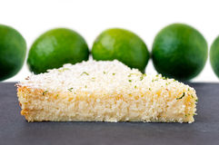 Lemon Lime Impossible Pie Slice Stock Photography