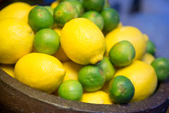 Lemon and lime Ingredient for cooking Stock Photography