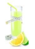 Lemon-lime juice and meter Stock Photo