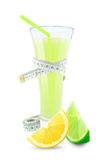 Lemon-lime juice and meter Royalty Free Stock Photo