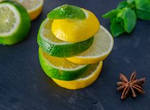 Lemon and Lime mix royalty free stock photo