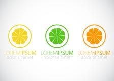 Lemon, lime and orange -  logo sign. Royalty Free Stock Image