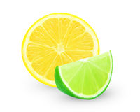 Lemon and lime slice Royalty Free Stock Photo