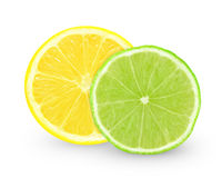 Lemon and lime slice Royalty Free Stock Photography