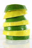 Lemon and lime slices Royalty Free Stock Photography
