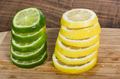 Lemon and lime slices Royalty Free Stock Photos