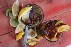 Lemon Lime Tea Stock Photography
