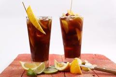 Lemon lime tea stock photo